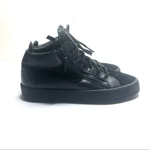Giuseppe Zanotti black leather sneakers size 41